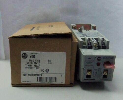 New Allen Bradley 700-RTCR00100U24 Timing Relay 24V DC 50/60Hz Series A NIB