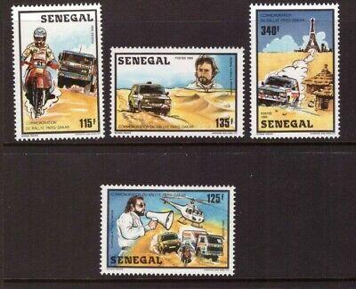 Senegal 1987 Paris-Dakar Rally set MNH mint stamps