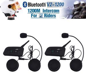 Casque d'écoute wireless pour 2 riders moto
