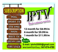 IPTV Service (trial available) $8.99