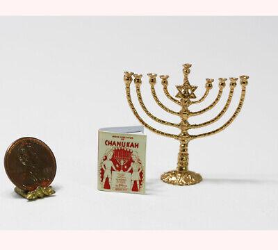 Dollhouse Miniature 1:12 Artisan Wrapped Jewish Chanukah Dreidel Print Gift
