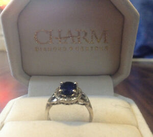 Silver and Sapphire ring