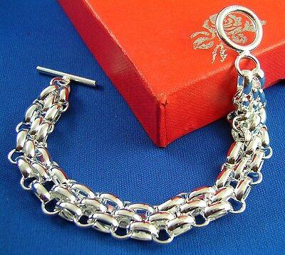 Wholesale Silver Plates Chain Bracelet Bangle Women Fashion Wristband - Wholesale Plates