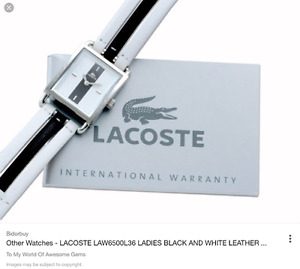 Brand New Ladies LACOSTE watch with leather strap.