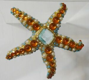 VINTAGE JEWELLERY KJL STAR FISH BROOCH