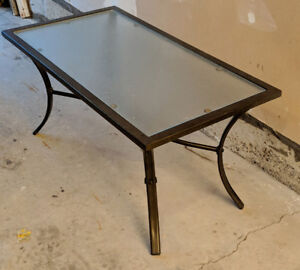 Outdoor Glass Iron Patio Table
