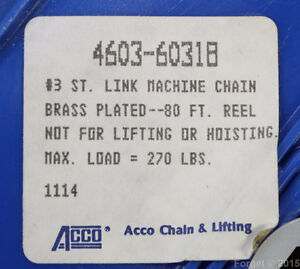 For Sale. 80 Foot Roll of Number 3 Straight Link Chain Oakville / Halton Region Toronto (GTA) image 3