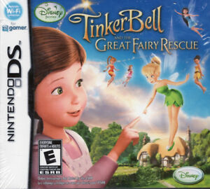 Brand New Tinkerbell and the Great Fairy Rescue Disney DS Game