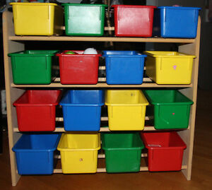 Toy Bin Organizer Kids Childrens Storage Box Playroom