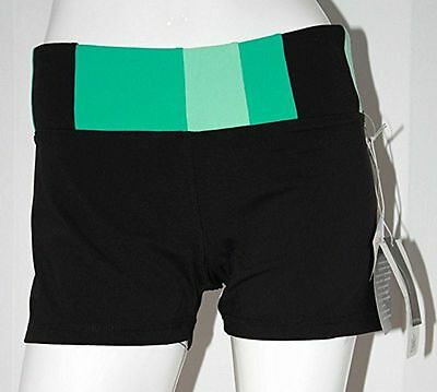 KYODAN Supplex YOGA Sport RUN Shorts GYM Slimming Katie CARIBBEAN Green BLACK L