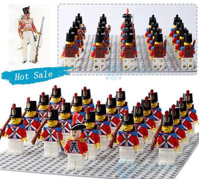 Building Block Toys (21PCS American Revolutionary War Mini Figure Building Block UK Marine Corps)
