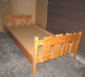 Solid Wood Single Bed with free board to support a mattress($$)