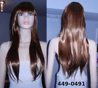 BRAND NEW: Brown Wavy Cosplay Wig (449-0491)