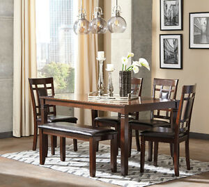 CANADA DAY SPECIAL OFFER ASHLEY 6 PCS DINING TABLE ON SALE  !!