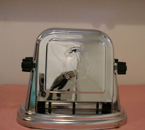 VINTAGE 1930's BERSTED CHROME FLIP TOASTER