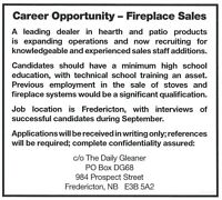 Career Opportunity - Fireplace Sales