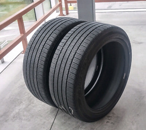 Set of two 235/55/19 Bridgestone all season tires