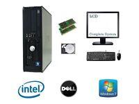 Computer Dell Optiplex - Dual Core 4GB RAM 80GB HDD Windows 7 Desktop PC Computer Bundle