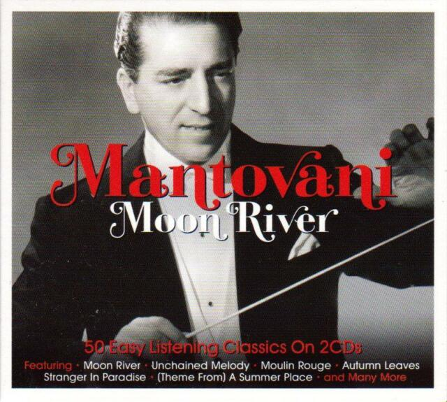 MANTOVANI - MOON RIVER - 50 EASY LISTENING CLASSICS (NEW SEALED 2CD)