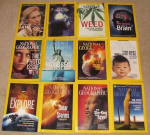 12 Issues Of National Geographic Magazine From 2009-2017