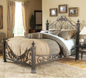 Cast iron queen bed from leons