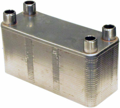 Stainless steel copper brazed heat exchanger mounting for Copper water boiler