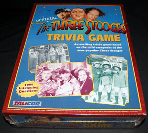New 'THREE STOOGES' Trivia Board Game in Original Shrink Wrap