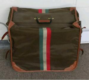 LARK Luggage Italian Suitcase Hanging Bag Tri-Color Design