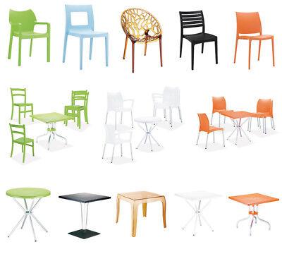 Kunststoff Gartenmöbel Set Design Plastik Gartentisch Stapelstuhl Gartenstuhl