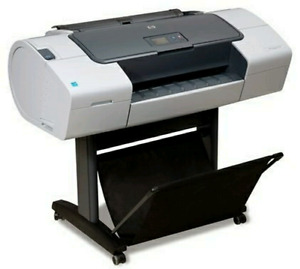 HP T770 24inch color plotter with extra cartridges and paper