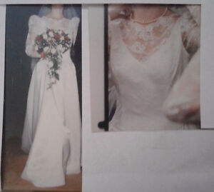 Handmade Satin and Lace Wedding Gown
