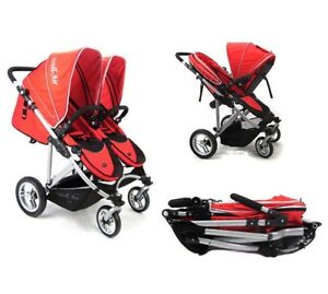 RED STROLLAIR DUO *rare double stroller*