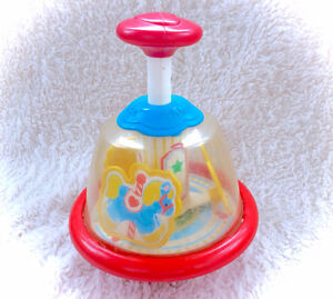 Vintage Fisher Price Merry Go Round Carousel Push Spin Toy