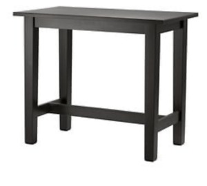 Tall black table with 2 chairs