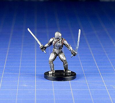 WOTC Star Wars Bounty Hunters miniature Mandalorian Blademaster #56 NM with Card