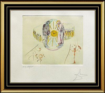 Salvador Dali Original Color Etching Hand Signed Surreal Art Cycles Of Life SBO