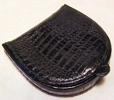 Vintage Gucci Coin Purse/1930s Liftboy Logo/Black Alligator Leather