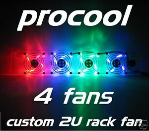ProCooL-CUSTOM-2U-RACK-MOUNT-COOLING-FAN-4-LED-FANS