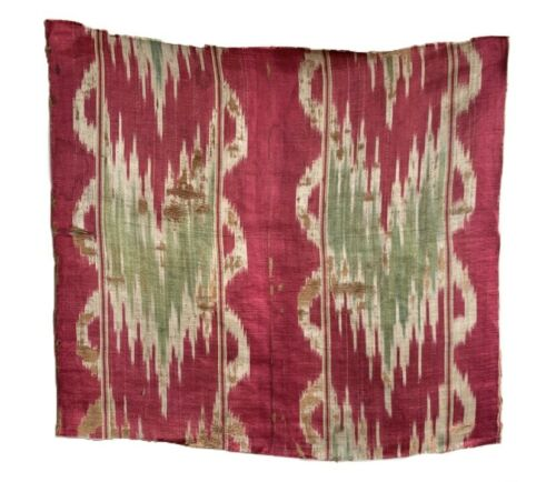 Beautiful Rare 18th Century French Woven Silk Ikat Fabric (2369)