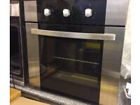 Integrated Electric Fan Oven in Stainless & Black