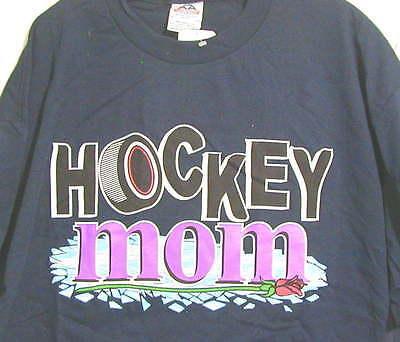 Hockey Mom T-shirt Xl Navy Nice Great Gift Aaa++