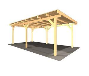 carport aus holz g nstig online kaufen bei ebay. Black Bedroom Furniture Sets. Home Design Ideas
