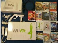 Wii cyber bike and wii fitness board console package