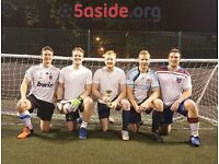 Opportunities for teams to join our Clapham junction 5-a-side football leagues!