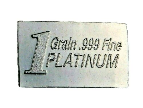 1/15 Gram .999 Fine Platinum Bullion Bar - in Assay Card