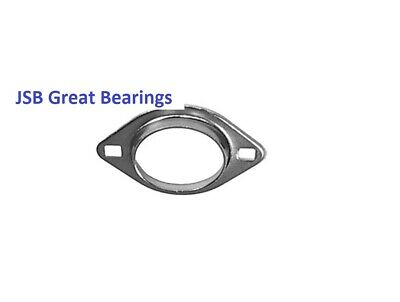 Pfl205 Oval 2 Bolt Pressed Steel Bearing Housing For 205 Inserts