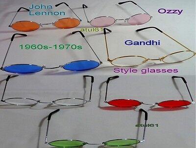 HIPPIE HIPPY 60'S 70'S OZZY JOHN LENNON ROUND SPECS FANCY DRESS GLASSES - John Lennon Sonnenbrille Kostüm