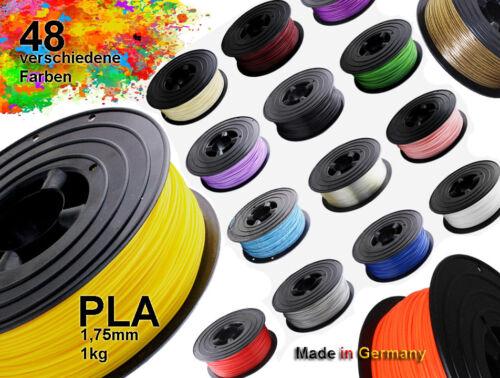 3D Drucker Filament 1kg PLA 1,75mm ⌀ Durchmesser Spule Rolle 1000g Made in DE