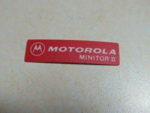 Motorola Minitor II Label Logo Sticker Name Plate (Red)