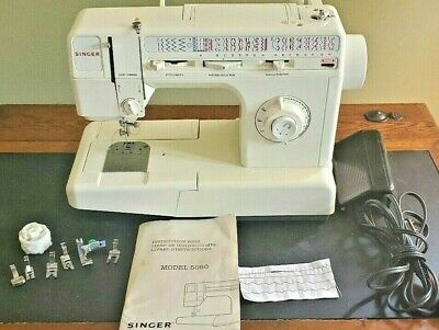 Singer Mechanical Model 5050 Sewing Machine in VG Condition